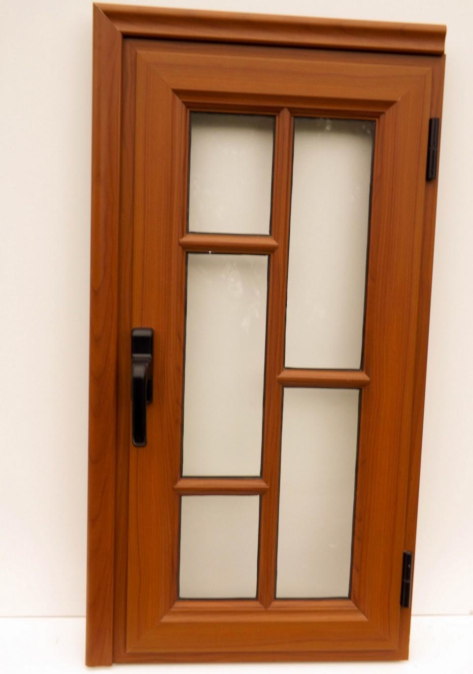 aberturas de aluminio color madera novedad